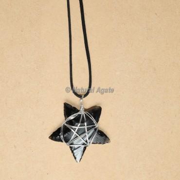 Wire Wrap Glass Star Pendants