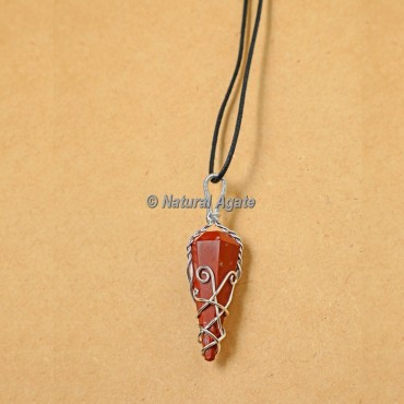 Red Jasper Wire Wrap Pendants
