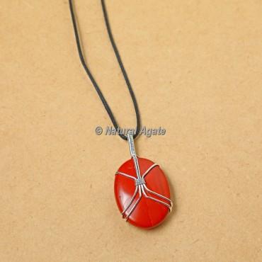 Beautiful Red Jasper Wire Wrap Pendants