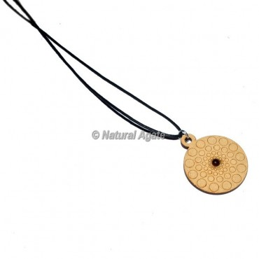 Engraved Round Design On Wooden Pendants