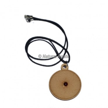 Flower Of Life Engraved Wooden Pendants
