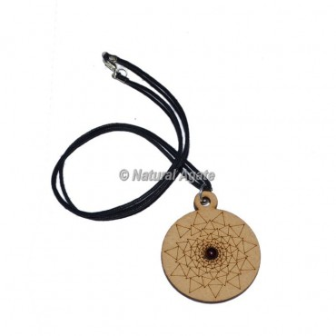 Triangle Design On Engraved Wooden Pendants