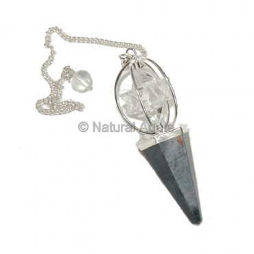 Hematite Pendulums With Merkaba Star