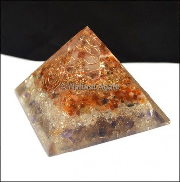 Carnellian-Crystal Orgone Pyramid with Point