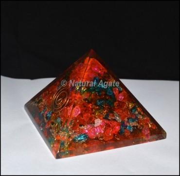 Chakra Color Orgone Pyramids