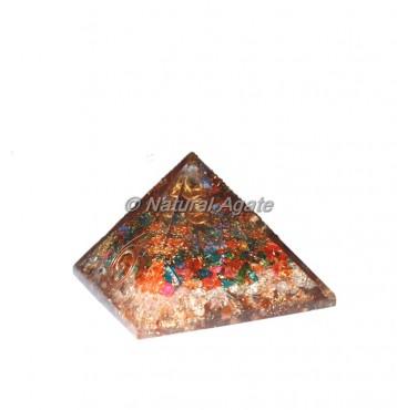 Mix Crystal Orgone Pyramid