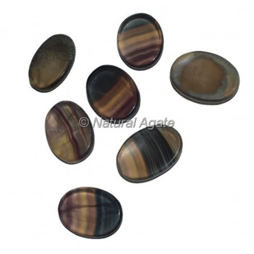 Multi Flourite Worry Oval Stone