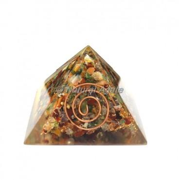 Multi Stone Orgone Big Pyramid