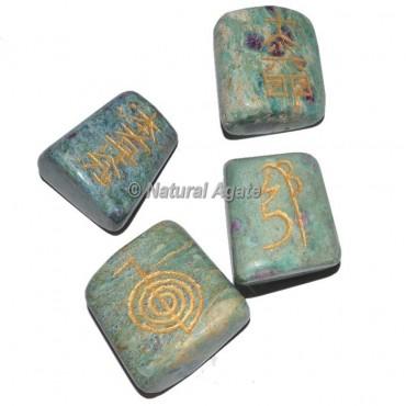 Ruby Zoisite Tumble stone Reiki Set