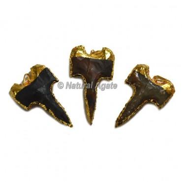 Shark Tweet Arrowhead Pendants