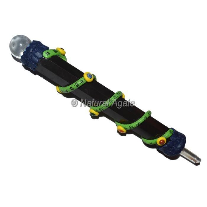 Black Agate Tibetan Stick