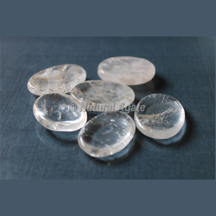 Crystal Quartz Worry Stone