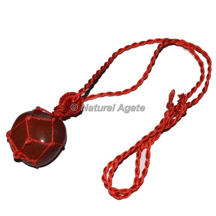 Red Jasper Tumble stone Wire Wrap Pendants